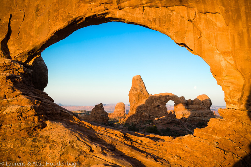 Arches NP, North Window, Turret Arch  Filename: CEM004983-Windows-ArchesNP-UT-USA.jpg
