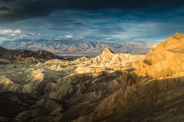 Zabriskie Point at sunrise, Death Valley, CA