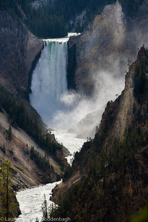 Lower Falls of the Yellowstone River at Grand Canyon of Yellowstone from Artist Point  Filename: CEM005939-YellowstoneNP-WY-USA.jpg