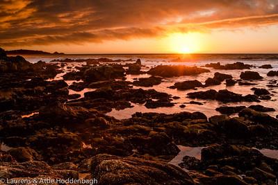 Beach of Carmel at sunset