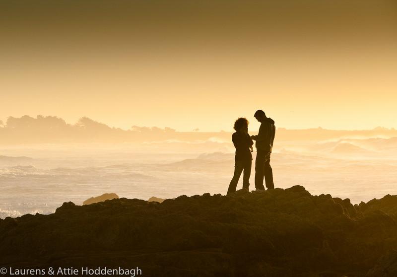 Sunset at Asilomar State Beach near Monterey