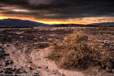 Sunset at Furnace Creek, Death Valley