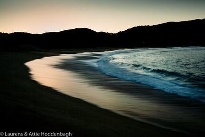 Sunrise at coast of Carmel