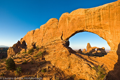 Arches NP, North Window, Turret Arch  Filename: CEM004987-89-Windows-ArchesNP-UT-USA-Edit.jpg