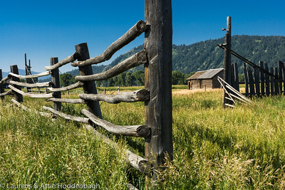 Fence and Farm at  Filename: CEM005783-TetonNP-WY-USA.jpg