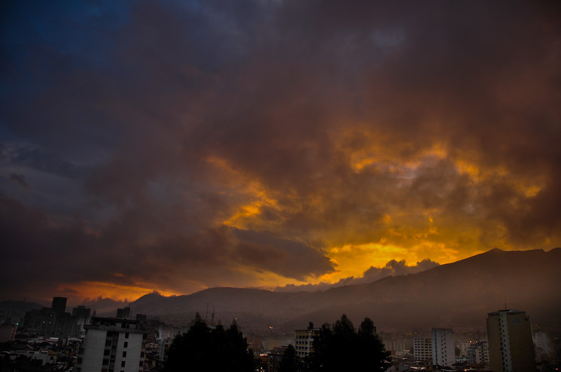 Sunset over Quito