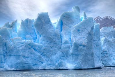 Blue Magic. The Grey Glacier, Torres del Paine National Park, Chile. (HDR)