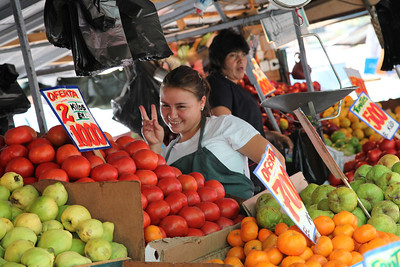 Smiling faces in Mercado Central, Santiago, Chile.