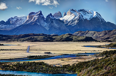 Rio Serrano and the Paine Masif, Torres del Paine National Park, Chile. (HDR)