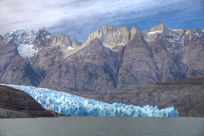 Glacier Grey continues to carve dramatic landscapes in Torres del Paine National Park, Chile. (HDR)