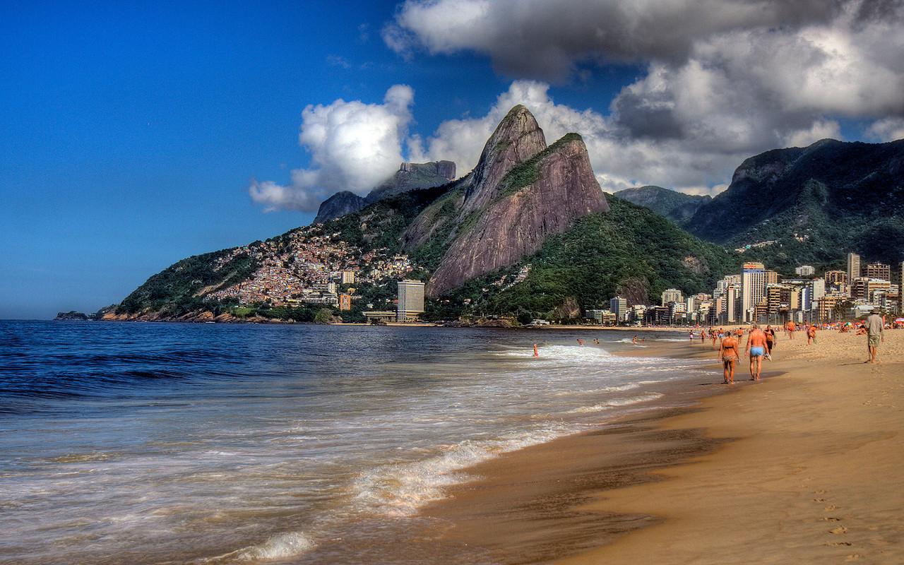 Dos Irmanos & Ipanema Beach, Rio de Janeiro, Brazil (HDR Image)