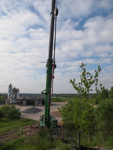 Finishing foundation for Telecommunications mast in Viborg. Foto Martin Bager.