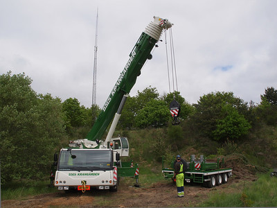 telecommunications mast in Viborg dismantled. Foto: Martin Bager