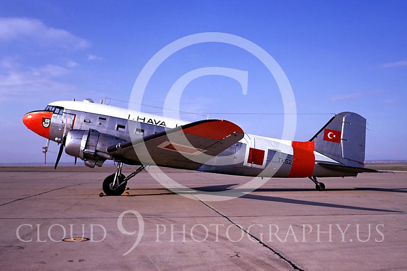 C-47Forg 00001 Douglas C-47 Skytrain Turkish Air Force TK52 January 1970 by Bob Burgess