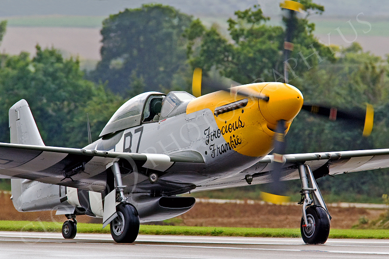 WB - North American P-51D Mustang 00075 North American P-51D Mustang Ferocious Frankie by Tony Fairey