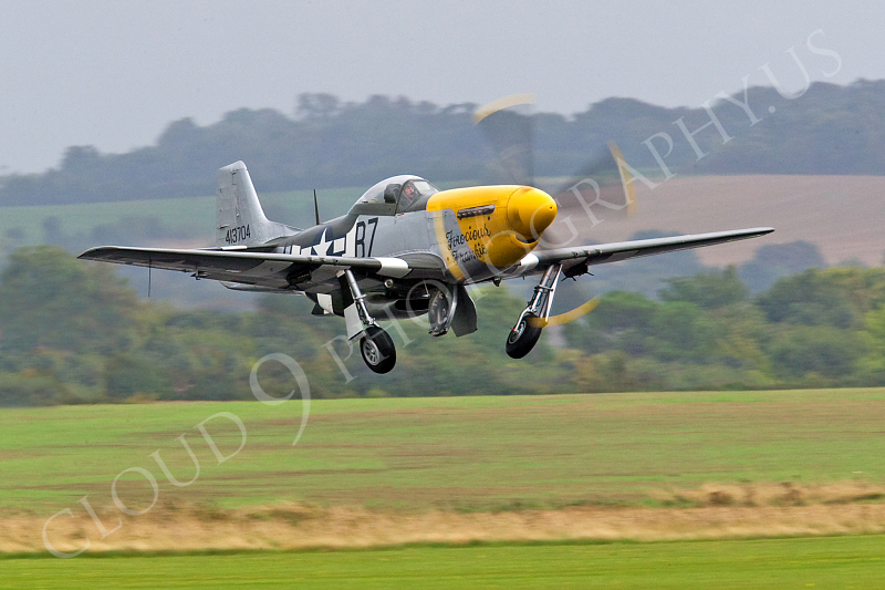 WB - North American P-51D Mustang 00060 North American P-51D Mustang Ferocious Frankie by Tony Fairey