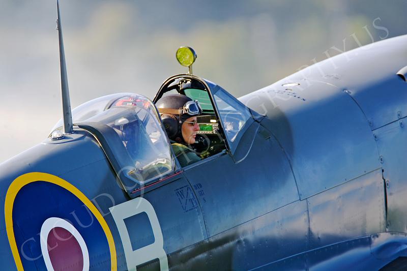 ACM 00358 Spitfire warbird pilot by Tony Fairey