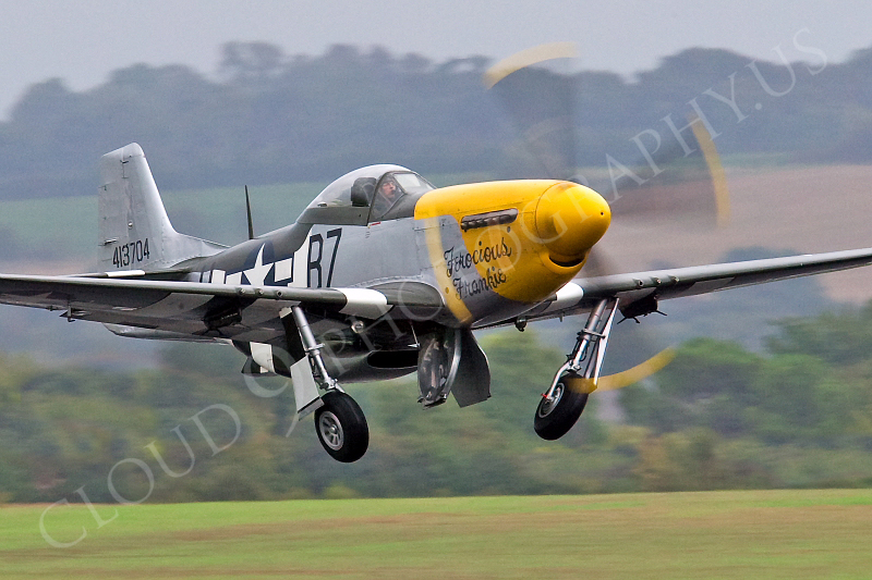 WB - North American P-51D Mustang 00086 North American P-51D Mustang Ferocious Frankie by Tony Fairey