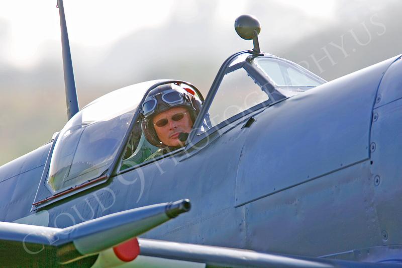 ACM 00356 Spitfire warbird pilot by Tony Fairey