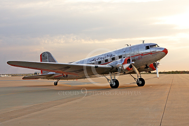 ALPPN 00008 A lovely clutter free static portrait of a Douglas DC-3 in American Airline Flagship markings, airplane picture, by Jay Shelby Davis