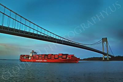 CCS 00063A Container ship HAMBURG SUD enroute to New York port, maritime picture, by John G Lomba