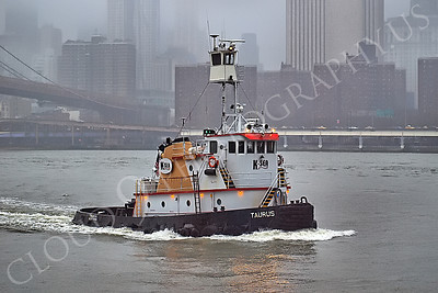 TUGB 00016 Tugboat TARUS on the East River in New York City, maritime picture, by John G Lomba