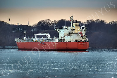 COTS 00035 Oil tanker ship ATLANTIC GEMINI in New York Port, maritime picture, by John G Lomba