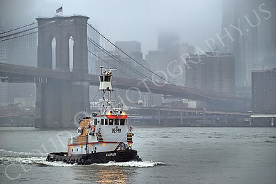 TUGB 00020 Tugboat TARUS on the East River in New York City, maritime picture, by John G Lomba