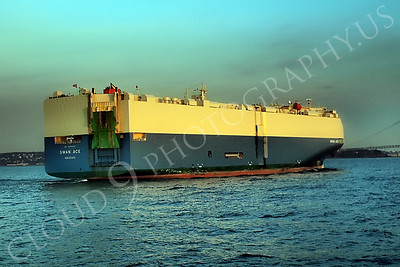 CCS 00067 Car carrier SWAN ACE entering New York Harbor, maritime picture, by John G Lomba