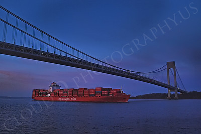 CCS 00063 Container ship HAMBURG SUD enroute to New York port, maritime picture, by John G Lomba