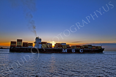 CCS 00053 Container ship MSC EMMA sails from the port of New York Harbor, maritime picture, by John G Lomba