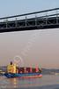 CCS 00015 Civilian cargo ship CSAV ROMERAL, Monrovia, in New York harbor, by John G Lomba