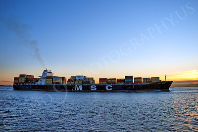 CCS 00049 Container ship MSC EMMA sails from the port of New York Harbor, maritime picture, by John G Lomba