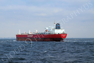 COTS 00039 Oil tanker ship KING DUNCAN sailing from the Port of New York, maritime picture, by John G Lomba