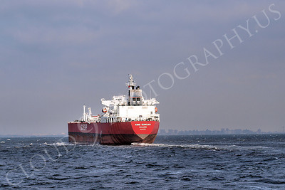 COTS 00065 Oil tanker ship KING DUNCAN sailing from the Port of New York, maritime picture, by John G Lomba