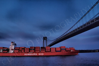 CCS 00057 Container ship HAMBURG SUD enroute to New York port, maritime picture, by John G Lomba