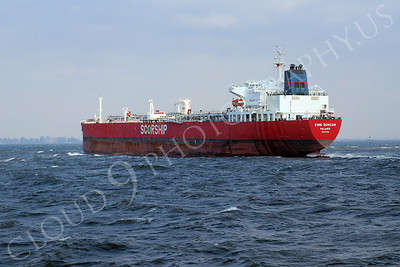 COTS 00039A Oil tanker ship KING DUNCAN sailing from the Port of New York, maritime picture, by John G Lomba