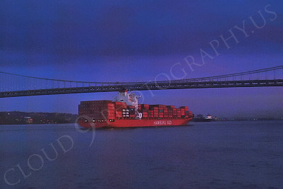 CCS 00055 Container ship HAMBURG SUD enroute to New York port, maritime picture, by John G Lomba