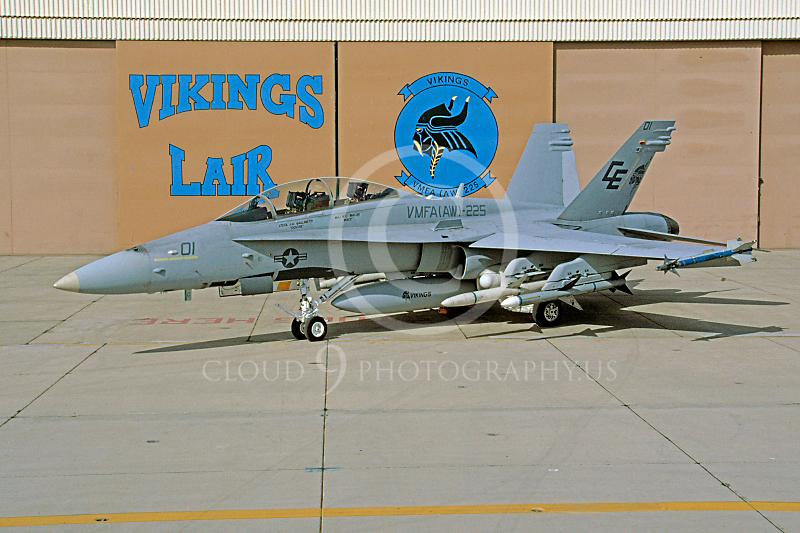 F-18USMC 00001 McDonnell Douglas F-18 Hornet VMFA(AW)-225 15 May 1992 by Robert L Lawson