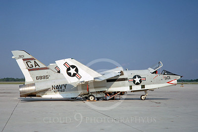 RF-8USN 00007 Vought RF-8G Crusader USN 146895 VFP-62 GA August 1967 by Peter B Lewis