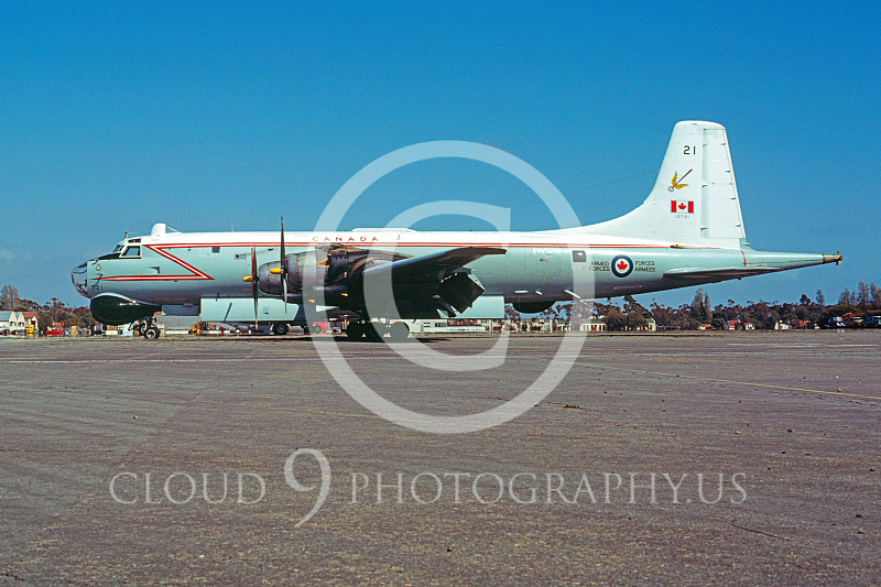 Argus 00001 Canadir CP-107 Argus Royal Canadian Armed Forces Mather AFB June 1977 by Peter B Lewis