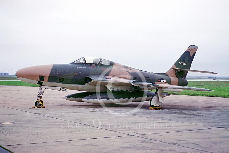 RF-84FANG 00001 Republic RF-84F Thunderstreak Michigan Air National Guard 0-17020 by Peter B Lewis