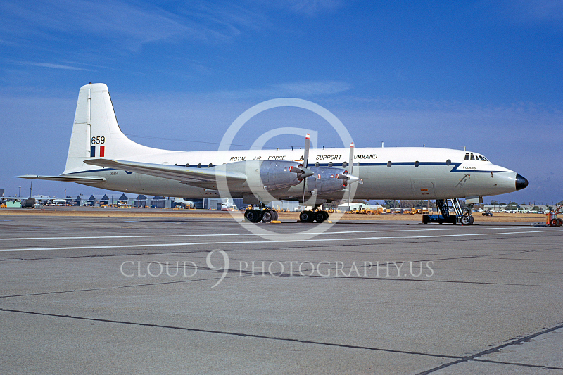 Bristol Britannia 00001 British Royal Air Force XL659 McClellan AFB December 1970 by Peter B Lewis
