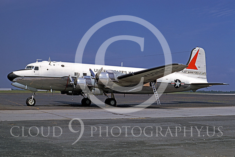 C-118USMC 00005 Douglas R5D Skymaster USMC Fleet Marine Force Atlantic July 1968 by Frank MacSorley