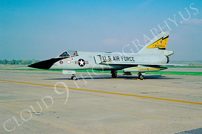 F-106USAF 00129 Convair F-106A Delta Dart USAF 90005 5th FIS Spitten Kittens 10 April 1981 by Donald S McGarry