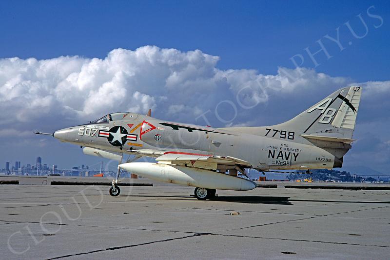 A-4USN 00015 Douglas A-4C Skyhawk USN 147798 VA-95 USS John F Kennedy 16 February 1969 NAS Alameda by Douglas Olson