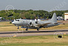 P-3USN 00012 A US Navy Lockheed P-3A Orion with a rare large pod taking off at Love Field in Dallas, military airplane picture, by Tim Perkins