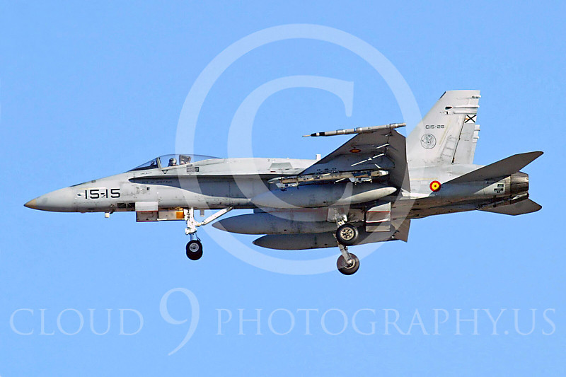 F-18Forg 00024 McDonnell Douglas F-18A Hornet Spanish Air Force C15-28 by Paul Ridgway
