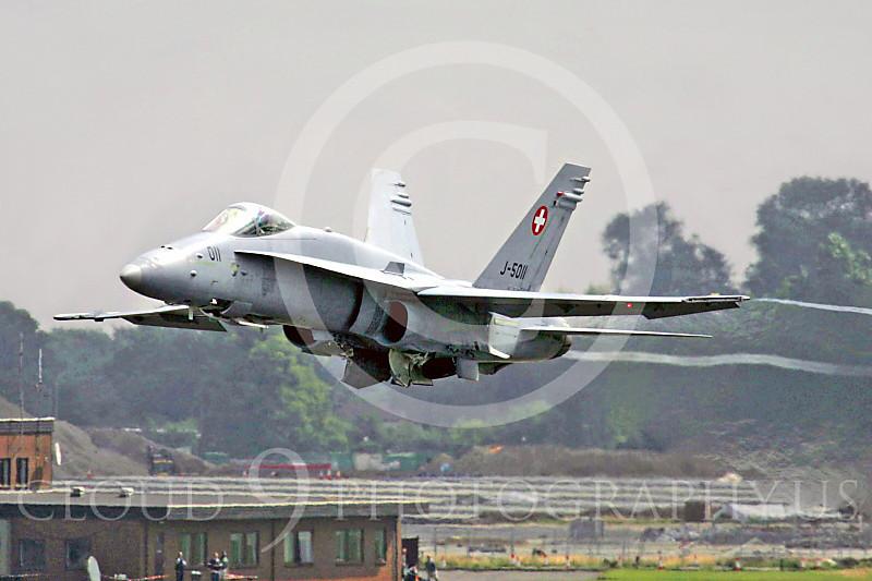 F-18Forg 00030 McDonnell Douglas F-18A Hornet Swiss Air Force J-5011 by Paul Ridgway