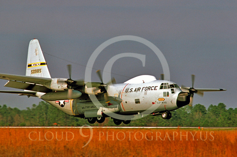 C-130USAF 00048 Lockheed WC-130 Hercules USAF 50985 February 1980 by Douglas E Slowiak